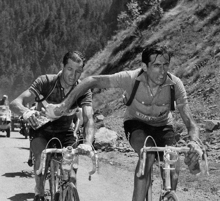 Fausto Coppi e Gino Bartali - Tour de France 1952, Col du Galibier #valloire #galibier