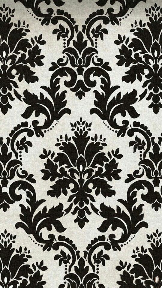 Damask Black And White Pattern Texture Wallpaper IPhone Background