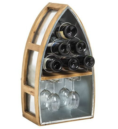 Decorative Coastal & Nautical Wine Bottle Racks: http://www.completely-coastal.com/2016/03/wine-bottle-racks-coastal-nautical.html