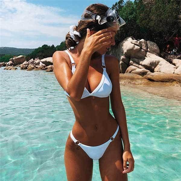 Bikini push up bikini brasiliano set 2019 tendenza regolare costume da bagno donna solido halter top costume da bagno estate femminile micro costumi da bagno