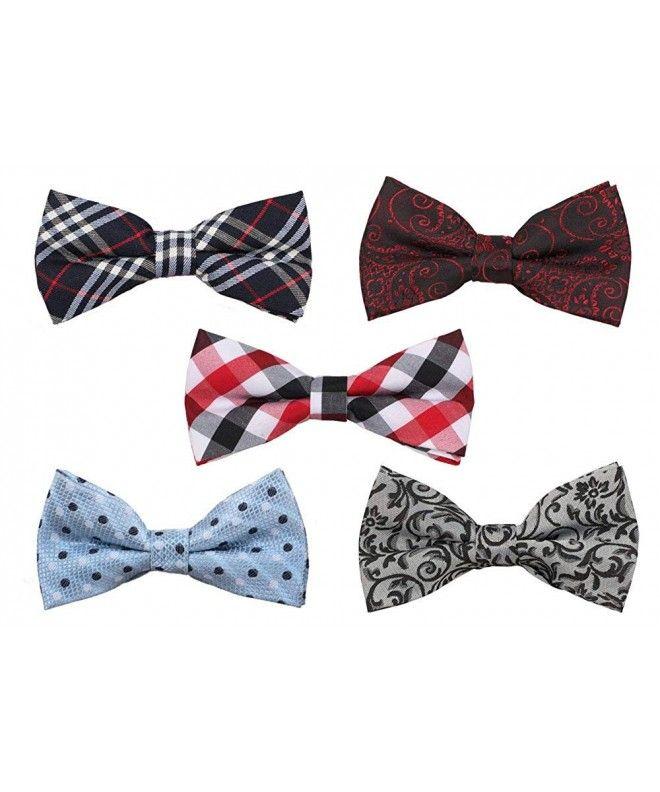 3 Pack Bowtie Solid Color Men/'s Adjustable Pre Tied Formal Bow Tie Tuxedo