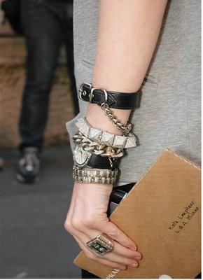 The arm of Kate Lanphear - style editor at US Elle