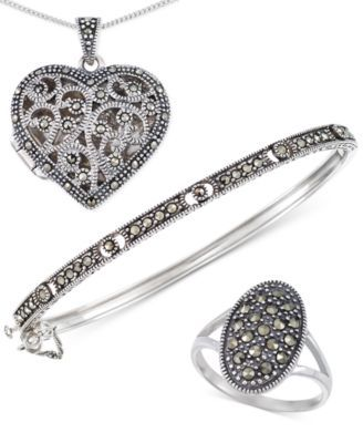 Giani Bernini Marcasite Jewelry Collection, Only at Macy's $21.25 From antiqued-look adornments to modern masterpieces, this marcasite jewelry collection from Giani Bernini flaunts a fabulous assortment of styles in striking sterling silver.