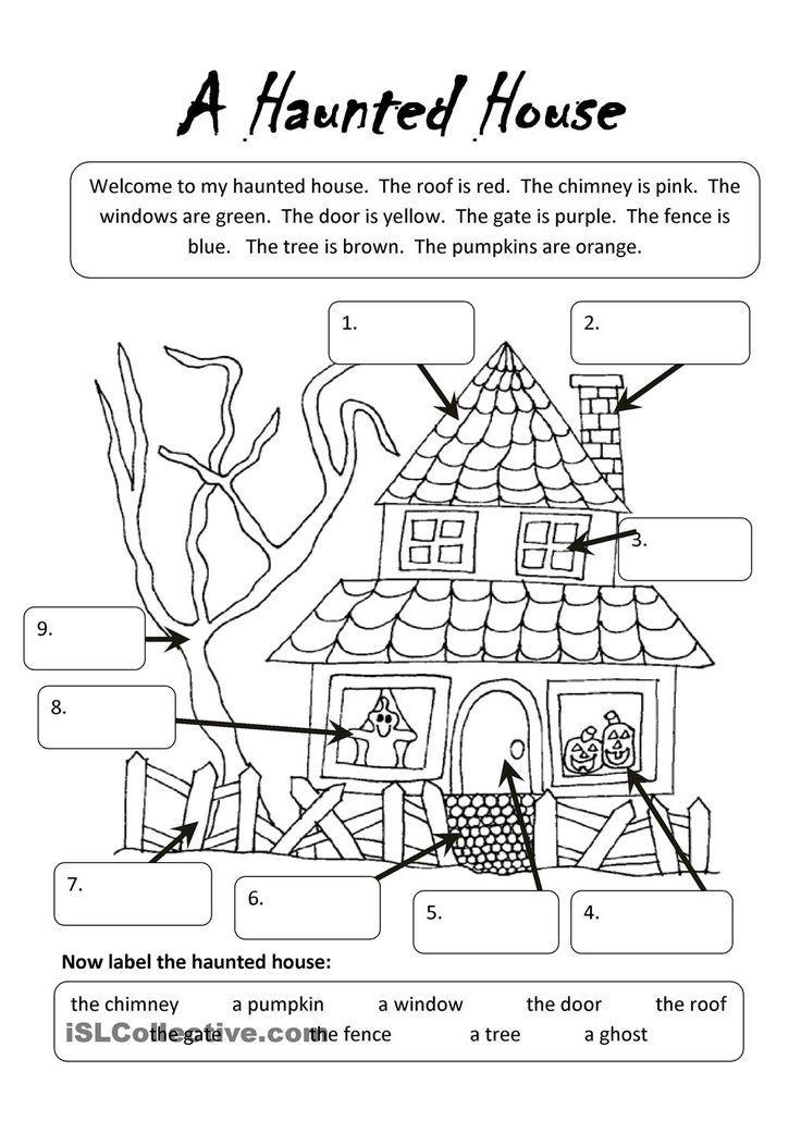Printable Worksheets halloween esl worksheets : 56 best Halloween Activities images on Pinterest | Halloween ...