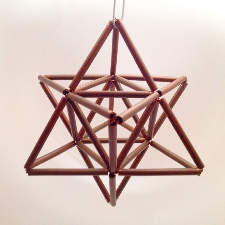 Copper Merkabah - Star Tetrahedron - Sacred Geometry by ManifestLoveNY on Etsy https://www.etsy.com/listing/218866960/copper-merkabah-star-tetrahedron-sacred
