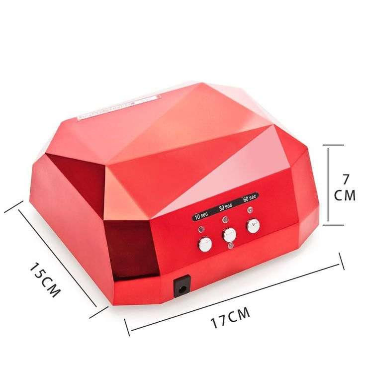 36W Diamond Shaped UV Lamp LED Ultraviolet Lamp UV Nail Dryer Nail LampCuring For UV Gel Nails Polish Nail Art Free Shipping