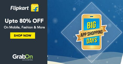 #Flipkart Presents Biggest Shopping Sale. Get Upto 80% Off On All Products. Grab Now -  http://www.grabon.in/flipkart-coupons/