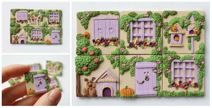 Polymer clay inchies!! so cute!!