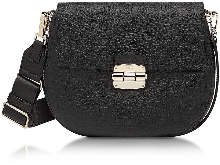 Furla Club S Onyx Pebble Leather Crossbody Bag