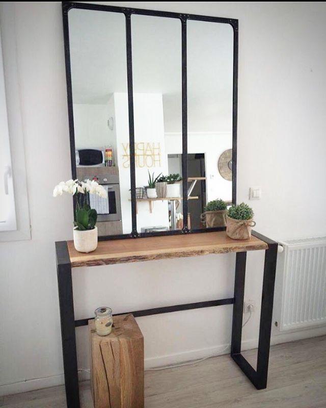r alisation 100 console cube bois et miroir disponible console bois metal. Black Bedroom Furniture Sets. Home Design Ideas
