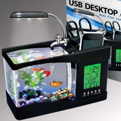 office desk fish tank. 2971 usb desktop aquarium cool people shopusb is a great home for small office desk fish tank