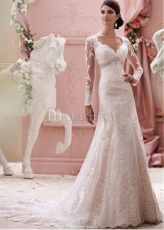 Robe de Mariée Spécial Sans Ceinture Avec Perle d'Empire
