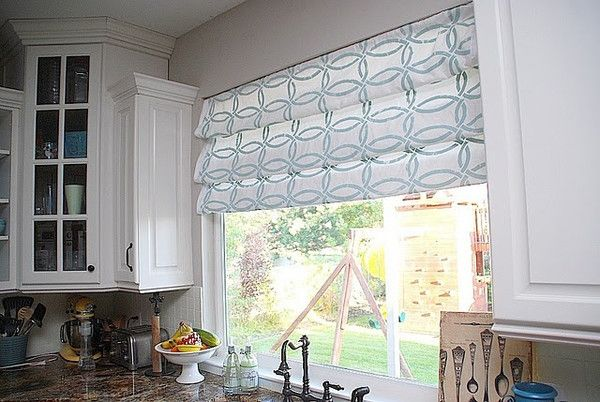 Tatertots and Jello - Fab Stenciled Fabric | Royal Design Studio Linked In stencil on Roman Shades
