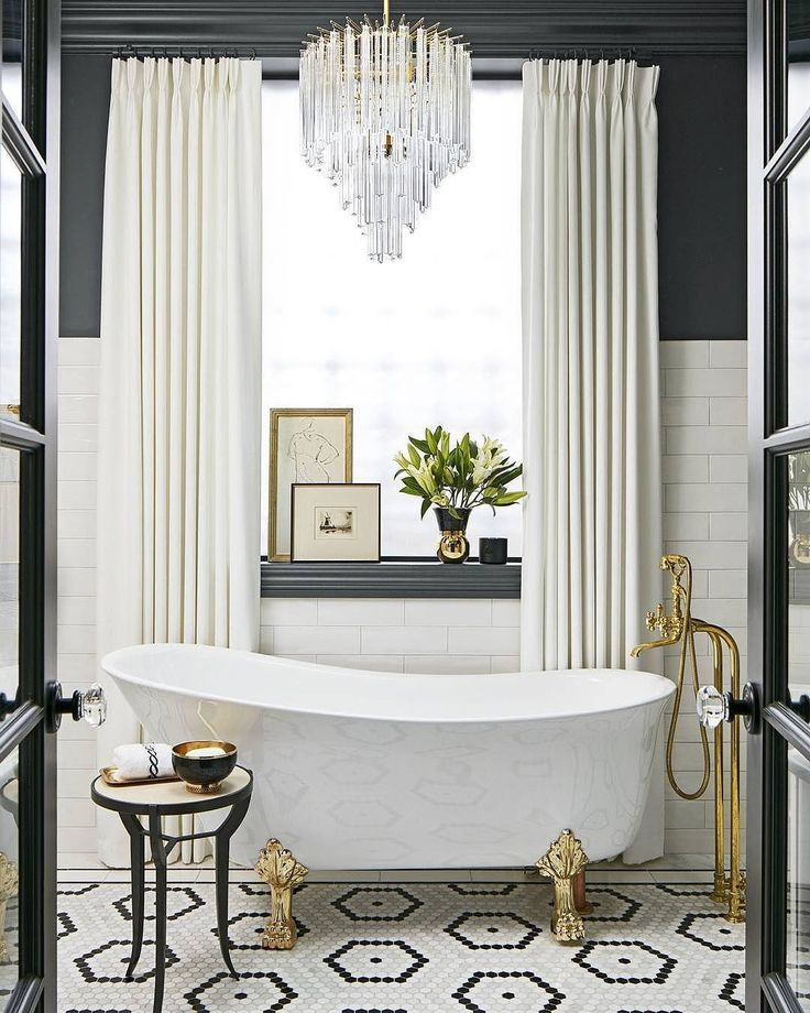 Photo Gallery Website Black white and gold bathroom