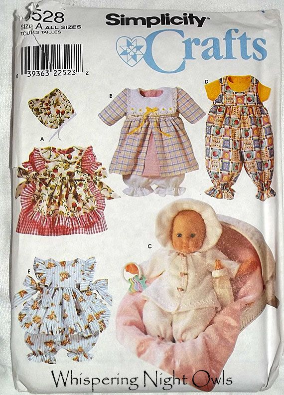 Simplicity Sewing Pattern Doll Clothes fits American Girl