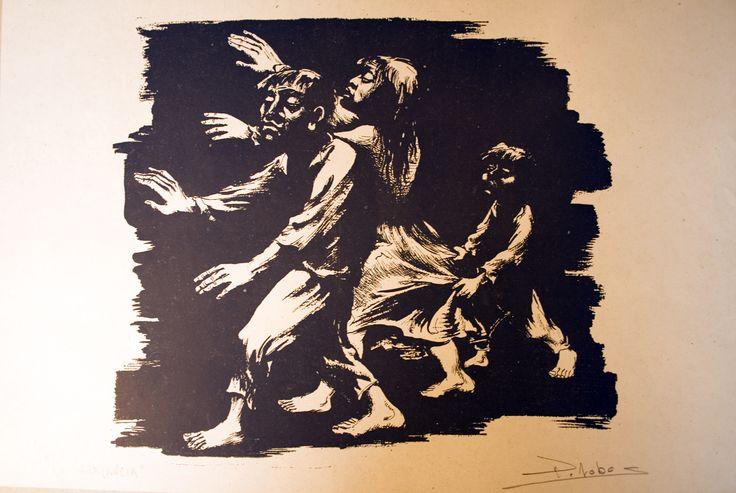 """Pedro Lobos """"La Ignorancia"""" Pintor, Grabador y Muralista Chileno. (1919-1968)"""