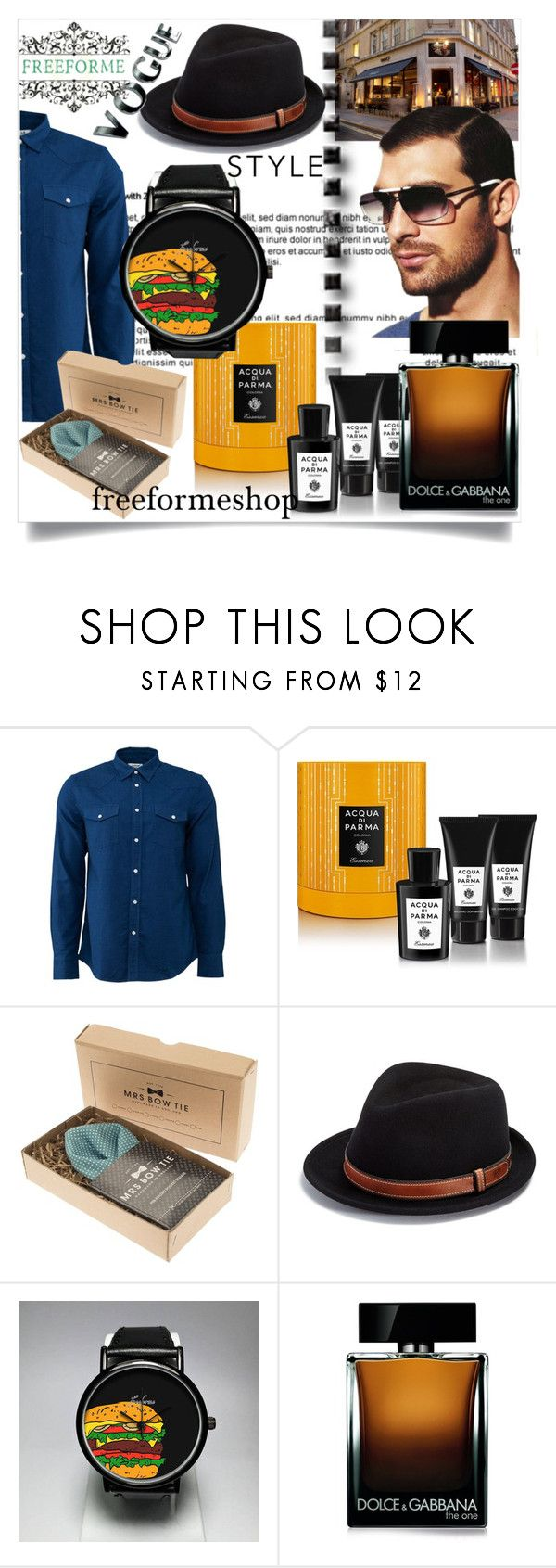 """""""freeformeshop#3"""" by sabahetasaric ❤ liked on Polyvore featuring Acne Studios, Acqua di Parma, Bailey of Hollywood, Dolce&Gabbana, men's fashion and menswear"""