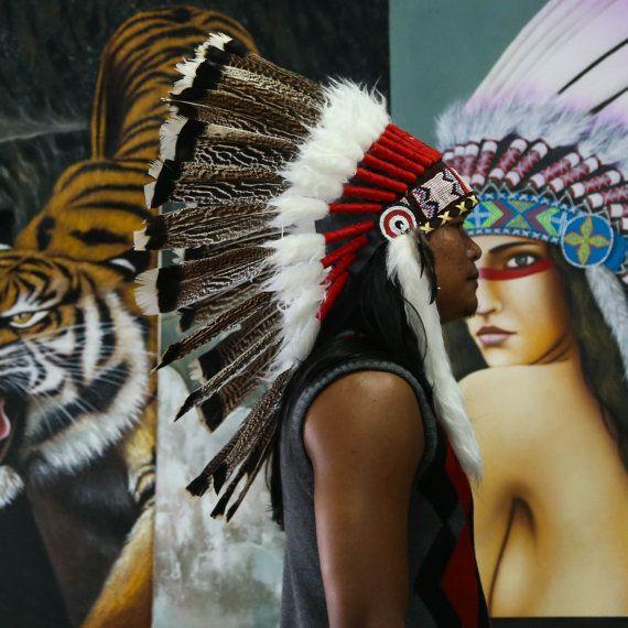 Het origineel de echte Goose Feather Chief Indische door AureusArts
