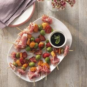 Asda Good Living | Ham, melon and olive skewers
