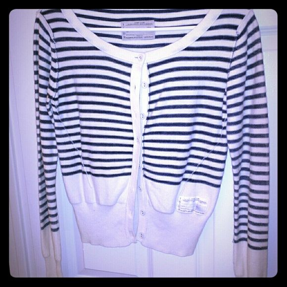 All Saints nautical cardigan In very good condition.  Cotton.  Fits like a 2  Offers welcome All Saints Sweaters Cardigans