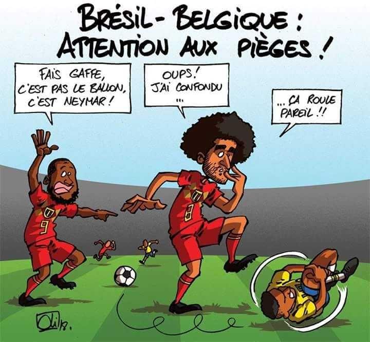 Humour Russia 2018: Le Brésil de Neymar est éliminé par la Belgique | Humour, Blague foot ...
