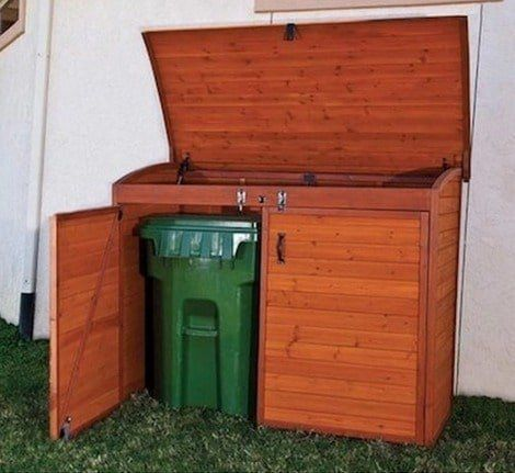 15 Best Looking Ways To Hide Trash Cans Outside | These ways to hide trash cans outside range from the very easy and inexpensive to industrial works of art.