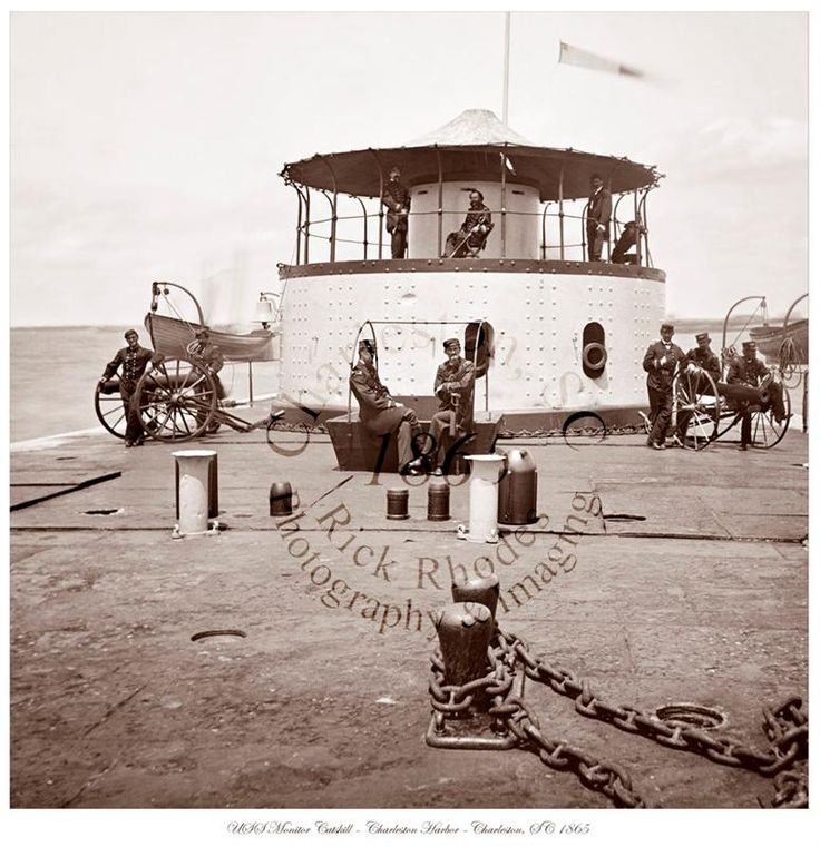 Civil War Photo - USS Monitor Catskill - Charleston, SC 1865