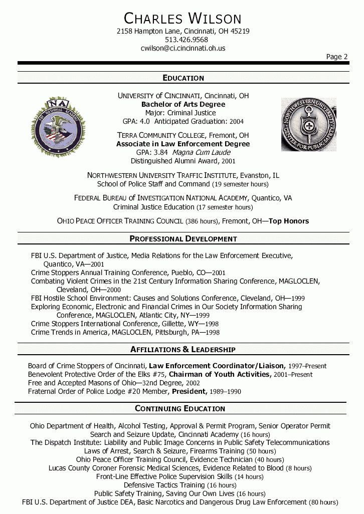 25 Unique Police Officer Resume Ideas On Pinterest