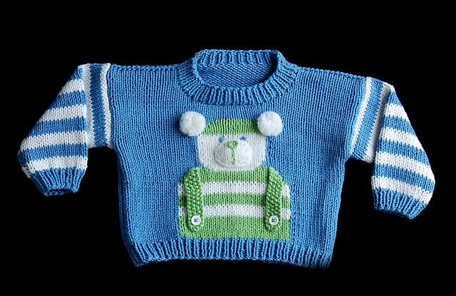 Ravelry: Children's Bear Sweater (W183) pattern by Amy Bahrt