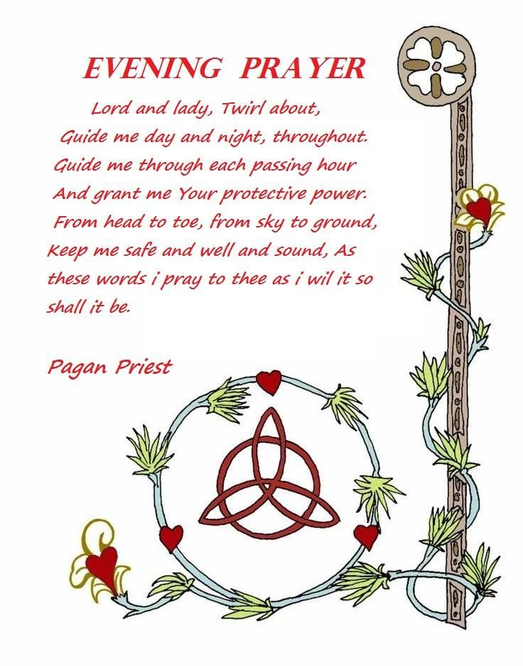 Book of Shadows: #BOS Evening Prayer page. #Wiccan Affirmation Spell
