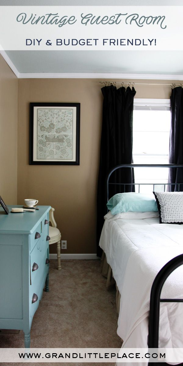 Decorating a small guest room made easy!