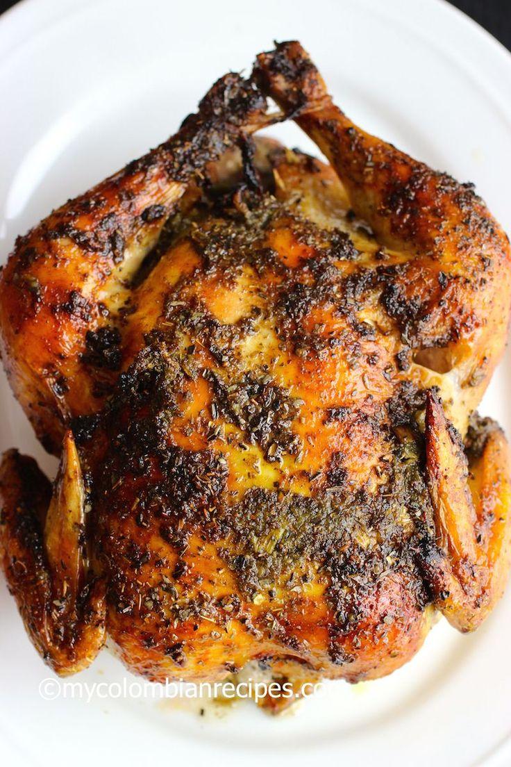 Pollo Asado (Roasted Chicken) |mycolombianrecipes.com