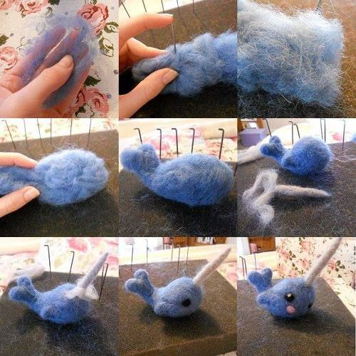 Needle felting tutorial for beginners | http://littleswirlsniftynotes.blogspot.co.uk/2013/01/needle-felting.html