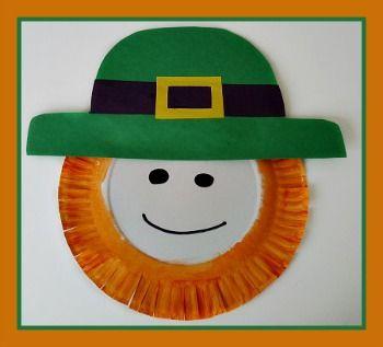 St Patricks Day Paper Plate Leprechaun Craft