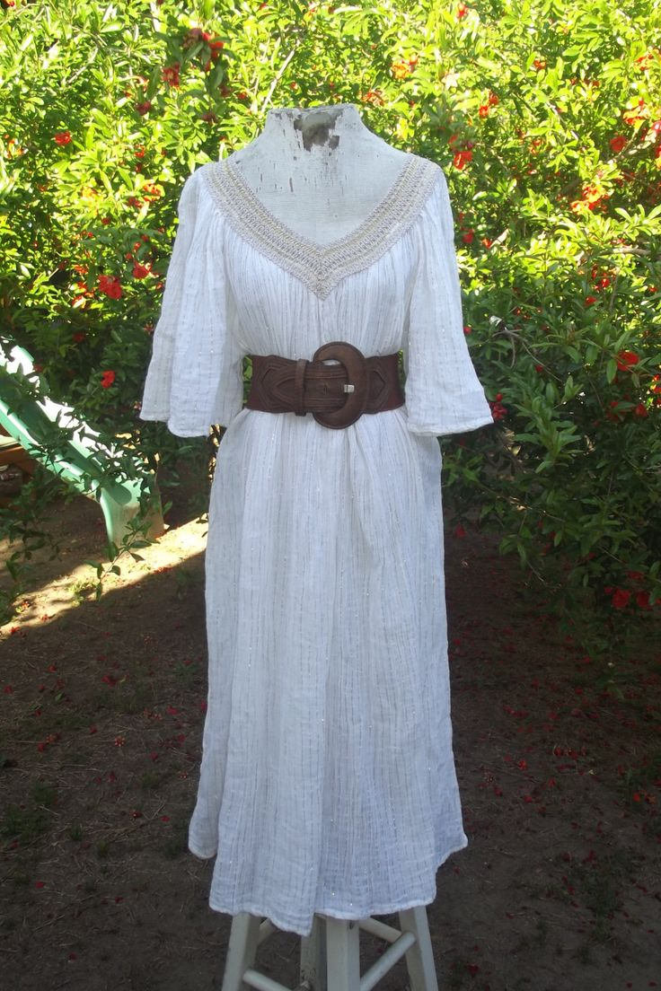 Pinterestteki 25den fazla en iyi metallic maternity dresses white metallic gauzy cotton crochet mu mu hippie festival clothing angel sleeves vintage maternity dress plus size vintage boho dress ombrellifo Images