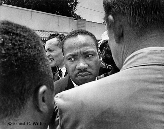 Ernest Withers | Martin Luther King Jr. stopped by police at Medgar Evers funeral -
