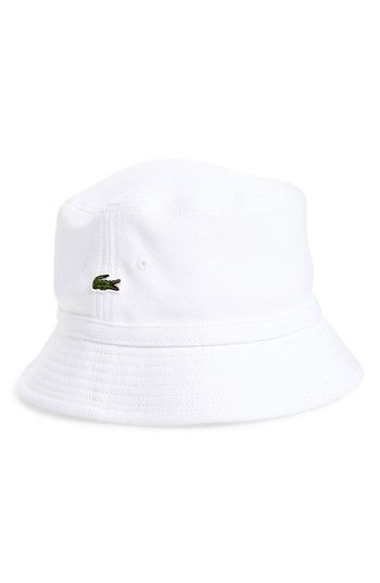 43f4f7a7cd160 LACOSTE BOB BUCKET HAT - WHITE.  lacoste
