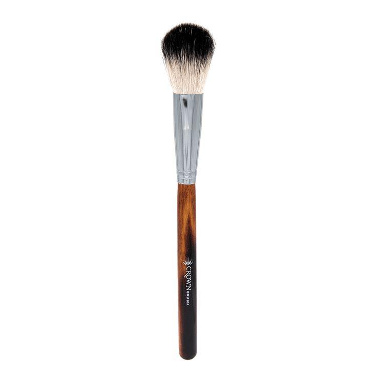 Zink Color Highlighting Fan Powder Brush Natural Goat Hair For Blush