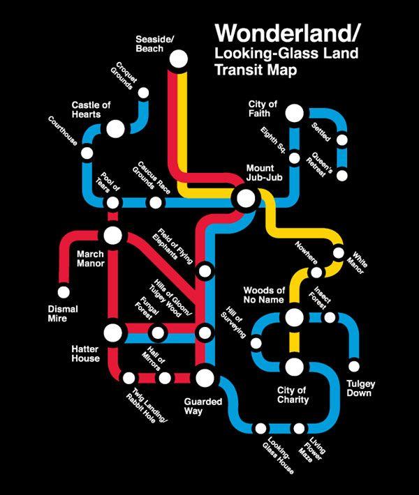 If Wonderland had a transit map... awesome.
