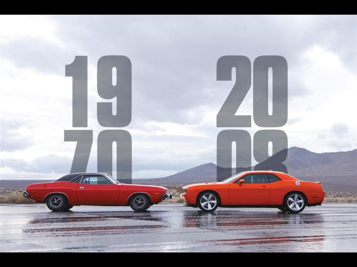 Dodge Challenger: old and new model comparison. Gorgeous
