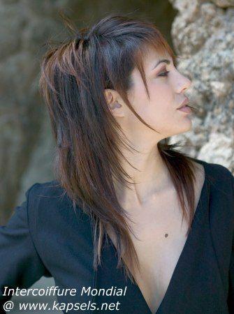 gelaagd lang haar