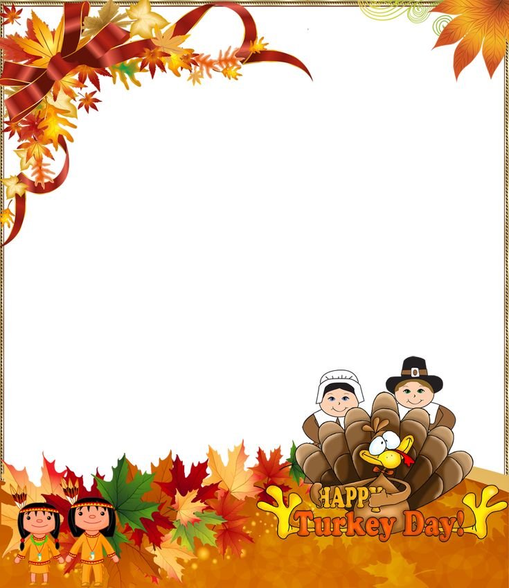 Thanksgiving PNG Photo Frame Happy Turkey Day