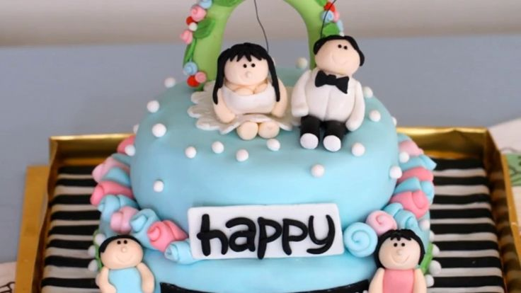Most Beautiful   Happy marriage  anniversary cake