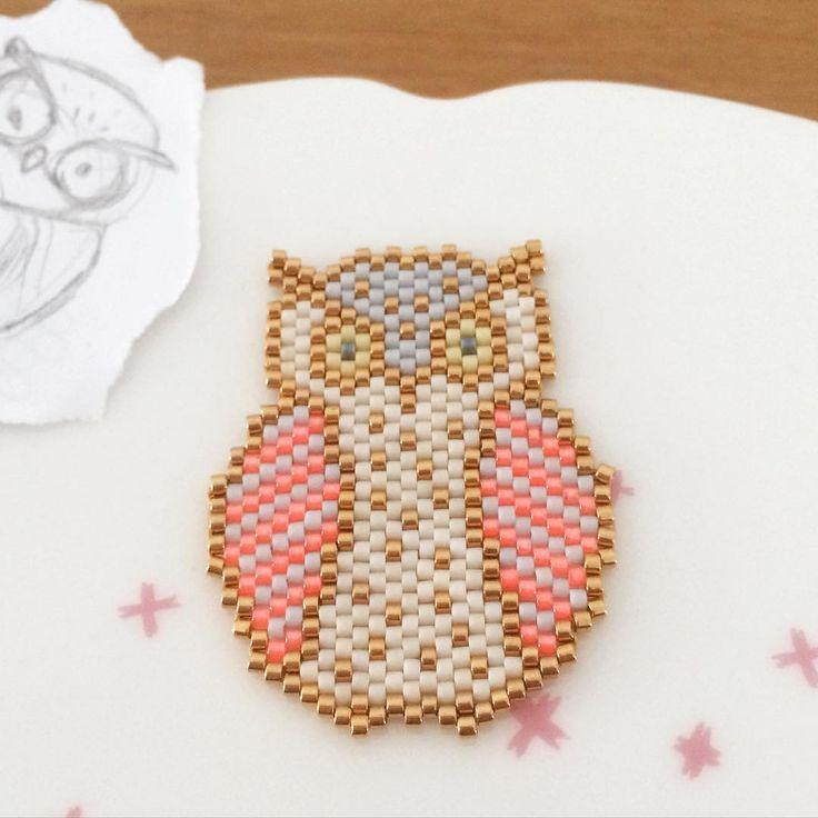 Un vieux petit gribouillage enfin transformé...#chouette #owl…