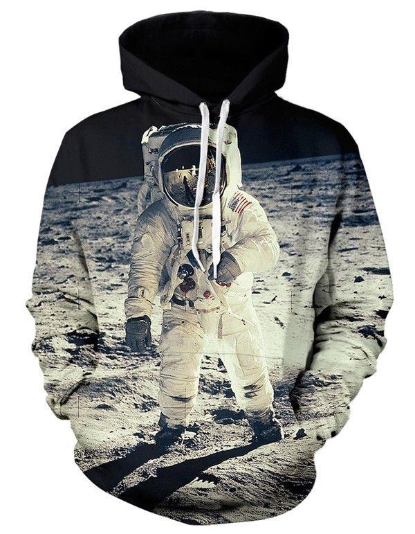 Astronaut on the moon Hoodie