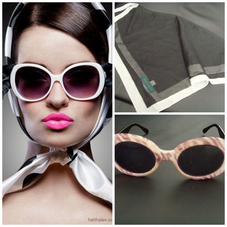 """Pañuelo de gasa en blanco y negro: 4 euros Gafas originales de la tienda Mowtown: 5 euros. Para comprarlos, entra en nuestra página de Facebook """"Baúl De-sastre"""": https://www.facebook.com/pages/Ba%C3%BAl-De-sastre/1453956378172483"""