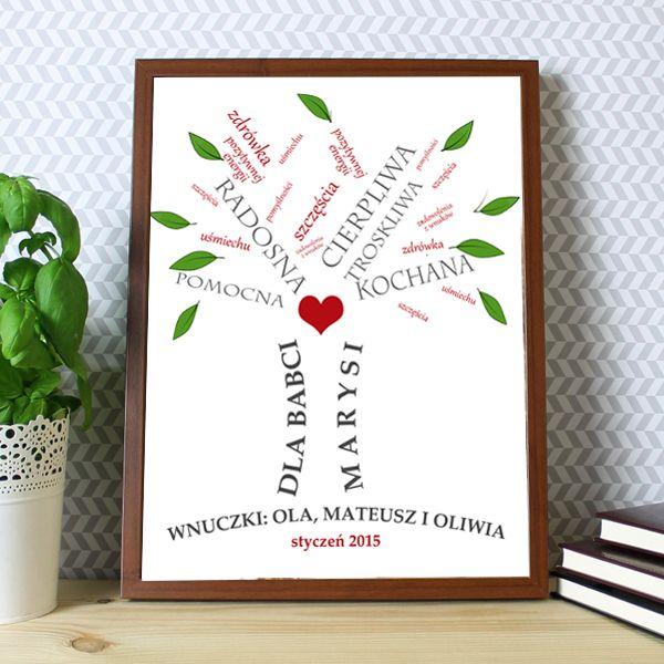 Kochana, troskliwa, pomocna... jest każda Babcia:) Spraw jej niespodziankę i podaruj obraz w ramie - drzewo życzeń! bit.ly/1VLMtb1