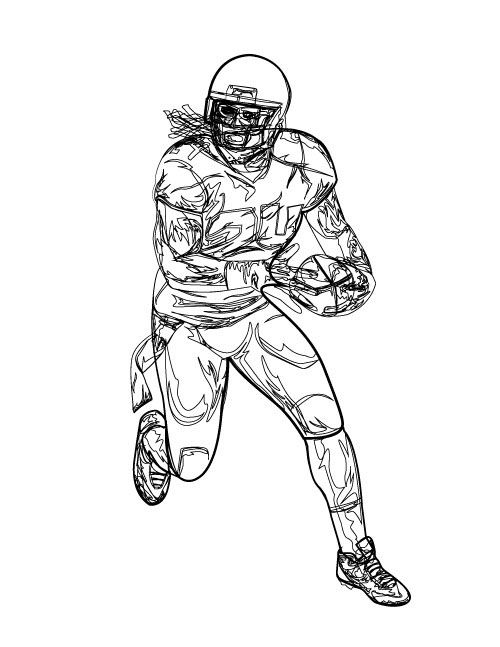 Russell Wilson Coloring Pages Baseball Coloring Pages Football Coloring Pages Russell Wilson