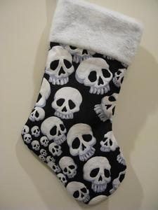 Creepy Skull Christmas Stocking
