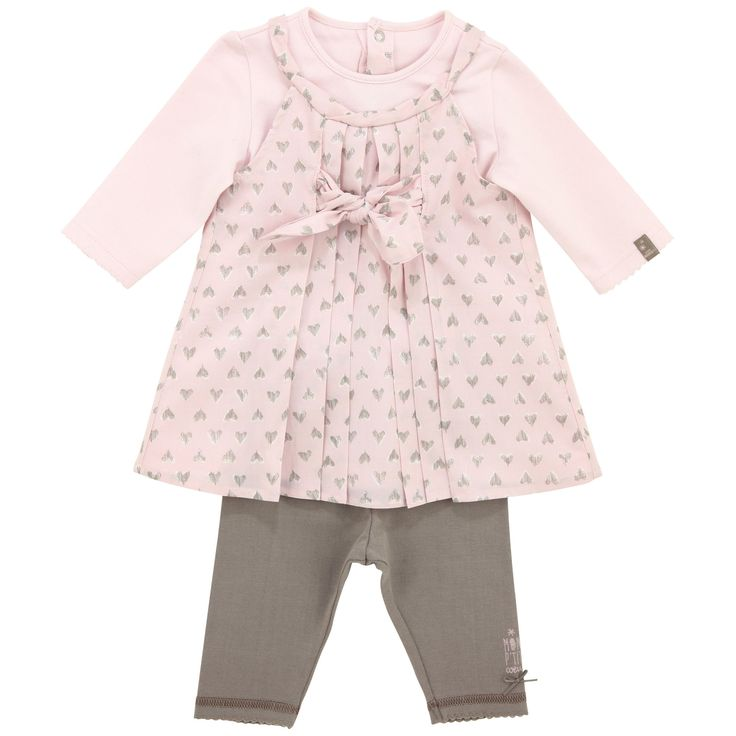 Jean Bourget Baby dress + legging (Baby Rose)